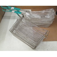 **Lot of 4** Deep fryer baskets. (2) 13x6x6; (2) 11x5x4