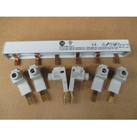 **Lot of 6**  Allen Bradley terminal lug 1492-AAT1 Series A and 1 AB 1492-A3B8 holder