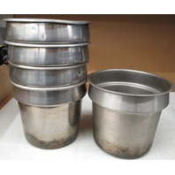 **LOT OF 5** BLOOMFIELD MGST-8-1/2 STAINLESS STEEL 7.25 Qt. VEGETABLE INSET