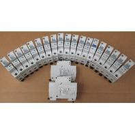 **Lot of 21**  Allen Bradley Circuit Breakers 1492-SP    4-2A; 4-3A; 4-4A; 5-5A; 1-7A; 3-10A