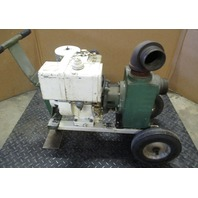 "Teel Dayton Electric Centrifugal Water Pump Model 3P582B  3"" Discharge with Briggs and Stratton 8HP motor"