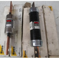 **Lot of 5**  3 Used Bussman FRS-R-150 and 2 NIB FRS-R-200 Fusetron Dual Element Time-Delay 600V fuses
