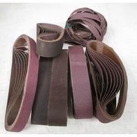 ** Lot of 80**  Various Sanding Belts  1  1/2 x 18 15/16 ; 1 x 26 ; 1/2 x 12