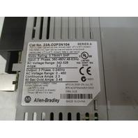 Allen Bradley Power Flex AC Drive  22A-D2P3N104 (missing front terminal cover)