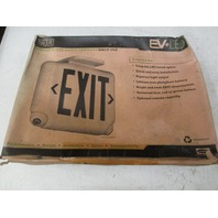 **New In Box** DUAL-LITE EVCURWDI Exit Sign & Emergency Lights  P/N 93060026