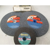 Lot of 4 Grinding Wheels  1 Gemini  6 x 3/4 x 1  and 3 Hertel 10 x 1 x 1 1/4