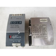 SOLA power supply SDN 5-24-100  **Lot of 2**