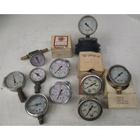 **Lot of 10** Various United Instruments and other brands air pressure gauges