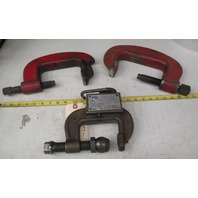 **Lot of 3**  2  J.H. Williams drop forged heavy service clamps & 1 NIS HD clamp