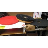 "1- Nylon bristle 20"" floor brush, 4 - 20"" Red Spray pads & 3 - GM 20"" Black stripper pads"
