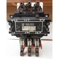 Square D Nema Sz 5,  Class 8536, Type SG01,  3ph  600V  Motor Starter