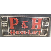 P&H Hevi-Lift 2-Ton Hoist 440 V 3 Phase