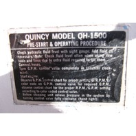 Quincy QH-1500 Portable Hydraulic pump with solid state ignition