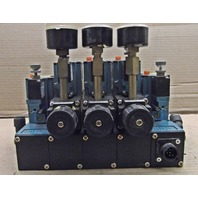 MAC 82A-AC-CKA-TP-DAAP-4DA-P  Pneumatic Valves - 5 Valve Assembly with 3 regulators