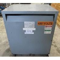 Square D Sorgel112.5 KVA Transformer 112T3H 480-208Y/120 V
