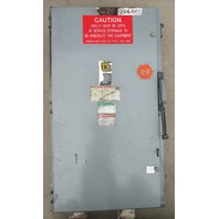 Square D Heavy Duty Switch H325 400 Amp 240 Volt