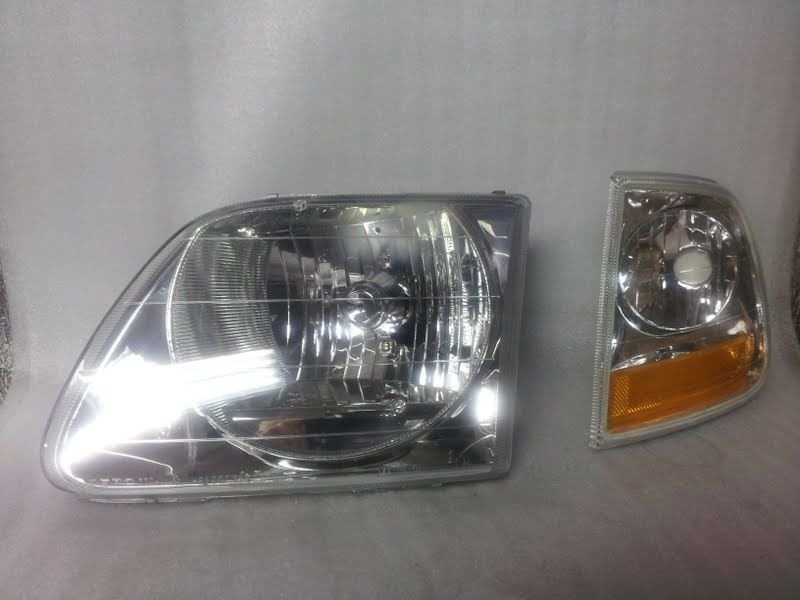 depo 330 1115l as ford f150 250 headlight assembly w lighting model new s 34 2 ebay. Black Bedroom Furniture Sets. Home Design Ideas