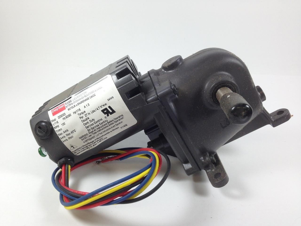 Dayton Ac Dc Gear Motordayton 12 Volt Right Angle Motor 1 Electric Wiring Diagram Am A Cutler Hammer Db1 Electrical Lotastock