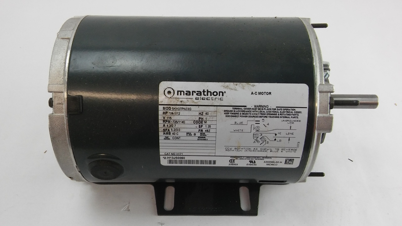 marathon electric a c motor 5kh37pn33g lotastock ForMarathon Electric Motors Model Numbers
