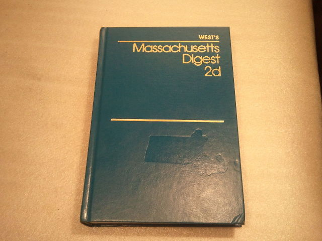 West's Massachusetts Digest 2d Volume 15 International Law to Judgment