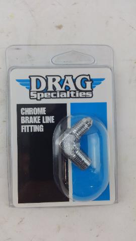 (5 PACKS) AN-3 Male x 1/8in. NPT Male 90deg. Brake Fitting DS098279