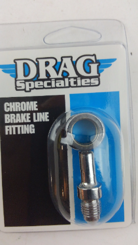 Drag Specialties 7/16in. Banjo x AN-3 Male Straight Brake Fitting - DS098152