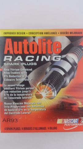 FOUR Autolite AR93 High Performance Racing Non-Resistor Spark Plug