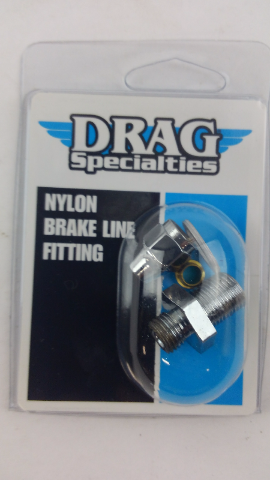 Drag Specialties 7/16in.-24 Male Straight Master Cylinder/Caliper Fitting - 1742-0064
