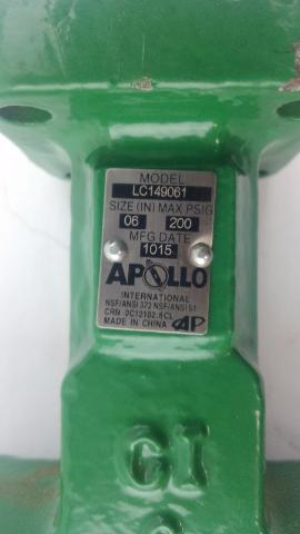 Apollo Conbraco 6 in. Cast Iron Butterfly Valve LC149061