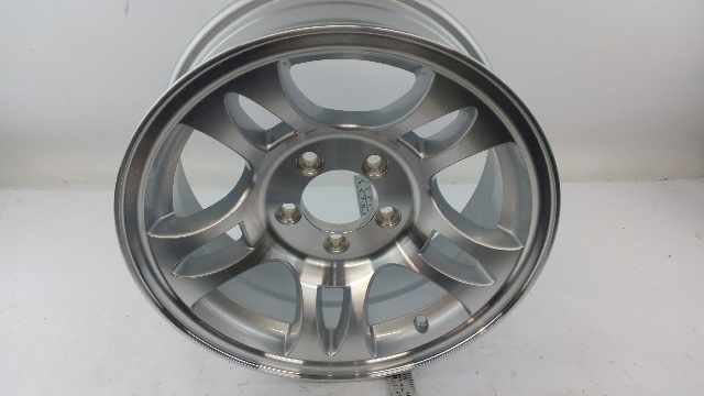 Sendel T03 Silver Machined Aluminum Trailer Wheel 15 5x4.5 5