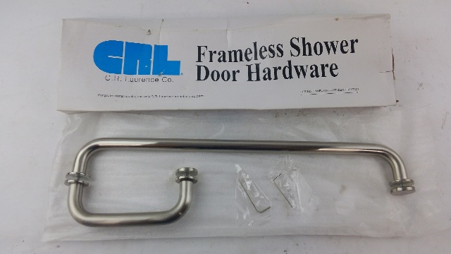 """CRL BM6X18BN BM Series 6"""" Pull Handle 18"""" Towel Bar Combination with Metal Washers - Brushed Nickel"""