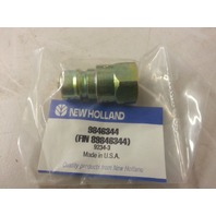 "New Holland 9846344 Male 3/8"" Quick Coupling Nipple, Hydraulic 3/8"", NPTF  (s#32-4)"