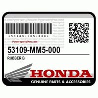 Honda 53109-MM5-000 Rubber B - Purchase includes 2!- NEW! (Honda)