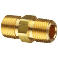 Barnes Distribution Nipple Hex Brass Pipe - 11097-1 - Pack of 5 - NEW!