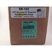 Mustangs Unlimited SK-102 Side Stripe Kit White 67 GT (s#29-2)