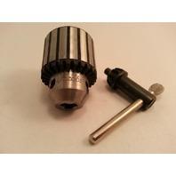 """Jacobs 41BA 1/2-20""""  0-3/8""""  0-10mm Drill Chuck w/K30 Key (s#3-5b)"""
