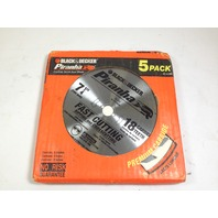 "Black & Decker 77-717 Piranha Carbide 18T Blade 7-1/4"" Pack of 5"