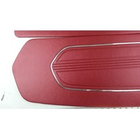 PAIR OF RED VINTAGE FORD MUSTANG DOOR PANELS 65-66 DISTINCTIVE INDUSTRIES