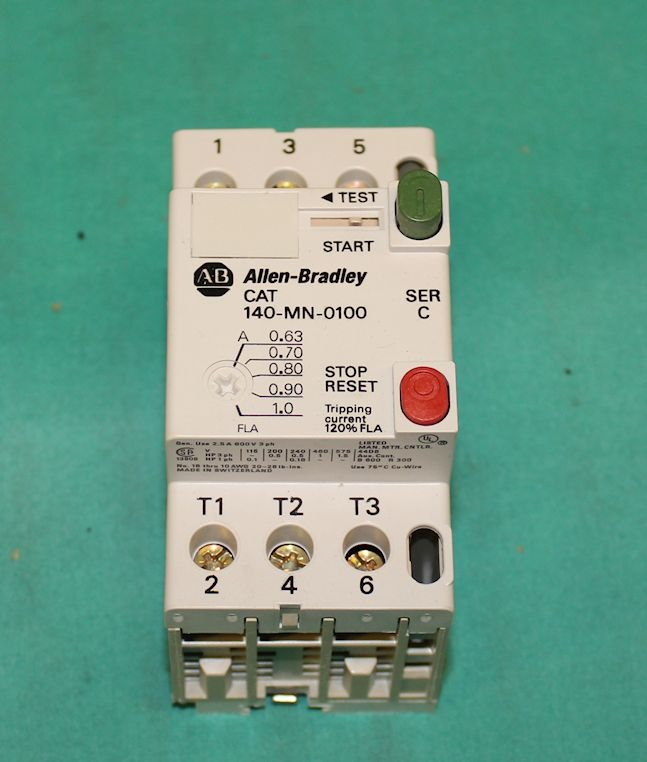 Allen Bradley 140 Mn 0100 Manual Motor Starter Switch