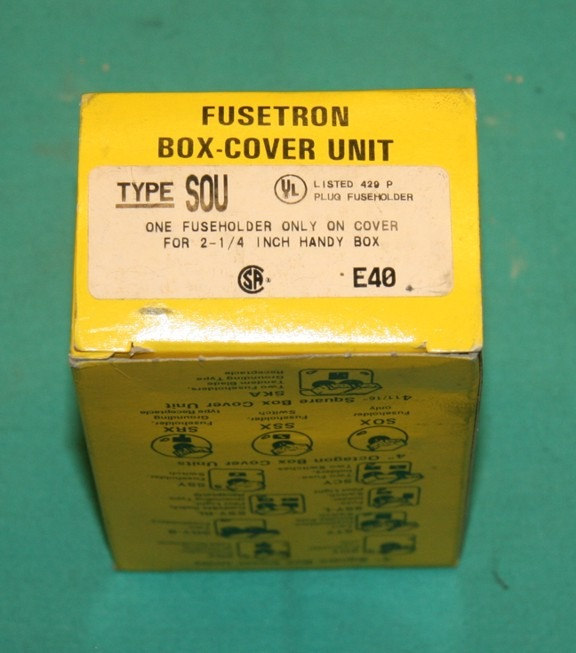 fusetron sou box cover unit fuseholder glass fuse new ebay