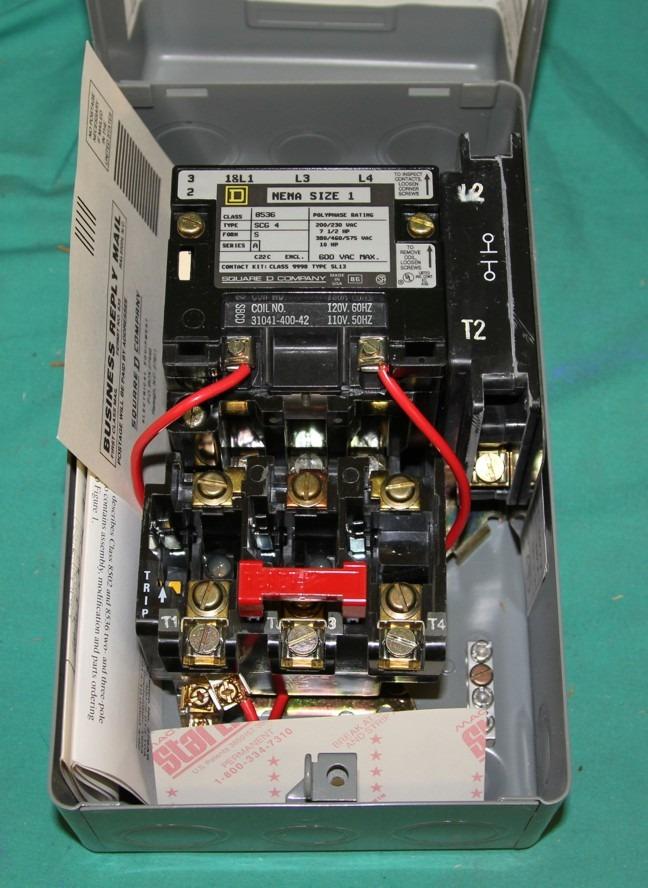Square d 8536 scg4v02 motor starter nema 1 scg 120v new ebay for Square d motor starter