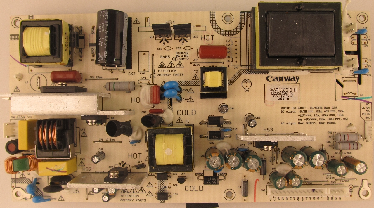 Sceptre Tv Power Supply Board