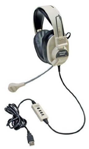 New - Califone 3066-USB Multimedia Headset With Mic