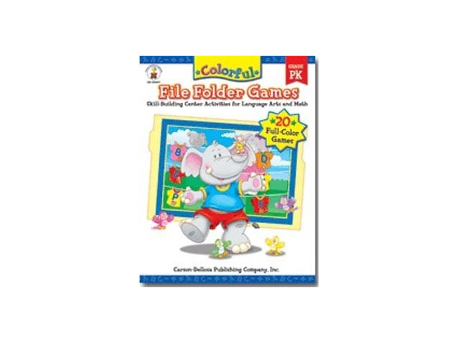 Coloful File Folder Games; Language Arts & Math Theme; Grades: PK; no. CD-104047