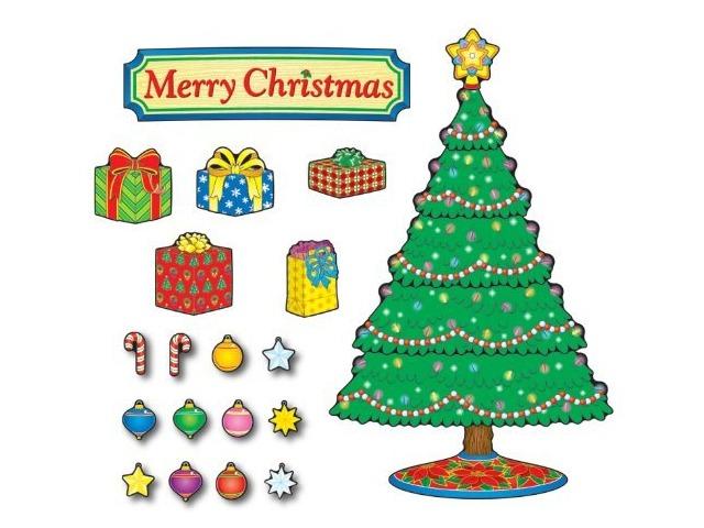 Carson Dellosa Christmas Tree Bulletin Board Set (110055)