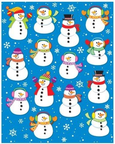 Carson Dellosa Snowmen Shape Stickers (168035)