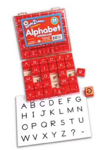 Manuscript Alphabet Stamp Set 1