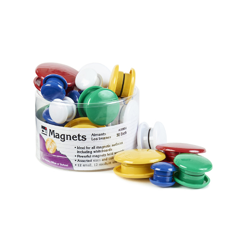 MAGNETS ROUND 30/TUB ASSORTED SIZES