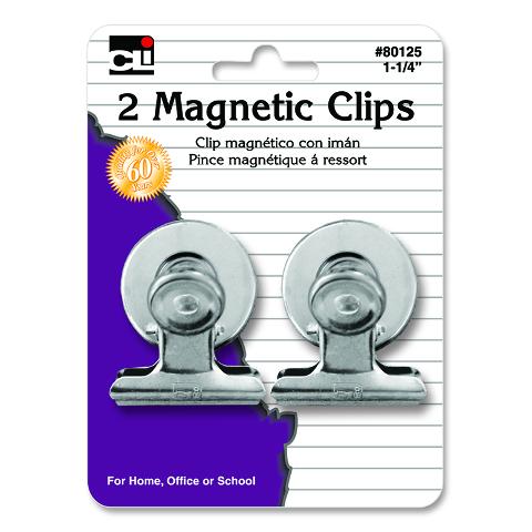 MAGNETIC SPRING CLIPS 1.25IN 2PK