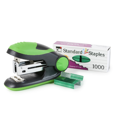 SOFT GRIP MINI STAPLER KIT GREEN